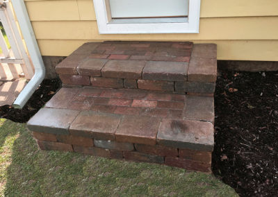 Patios Concrete Block Steps