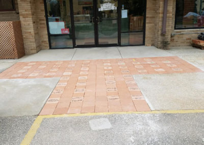 Patios Engraved Pavers After