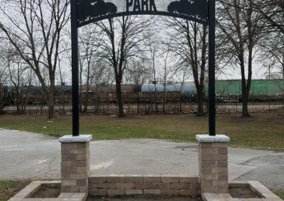 Retaining Wall Park Signage 1